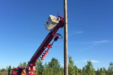 Utility pole installation