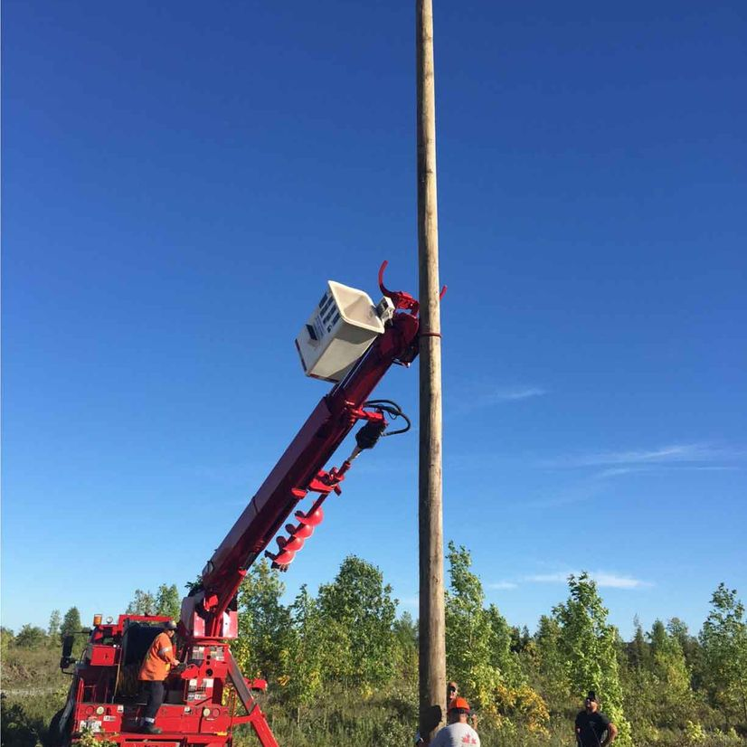 hydro pole installation